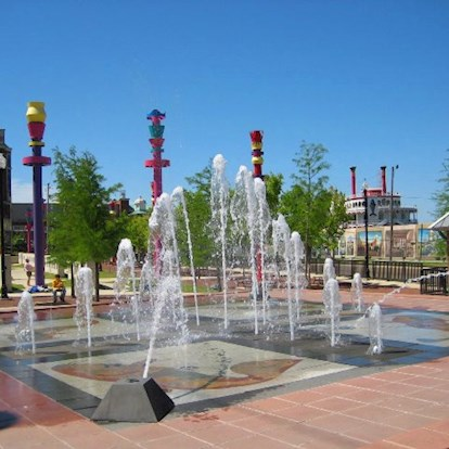 Fountains at the art park in Vicksburg, MS